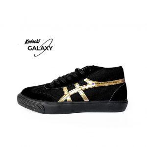sepatu capung Kodachi-International-Galaxy hitam emas black gold